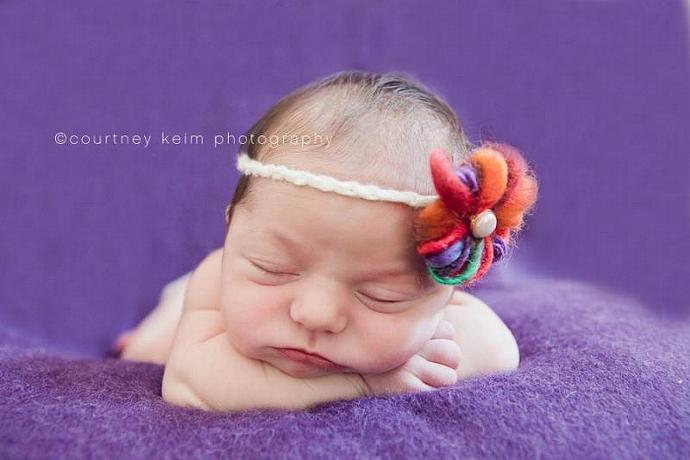 Newborn Bitty Bloom Headband Variety 7 pack - Free Ship