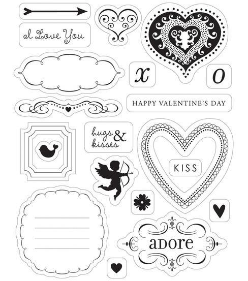 Love Struck Clear Stamp Set (free ship)