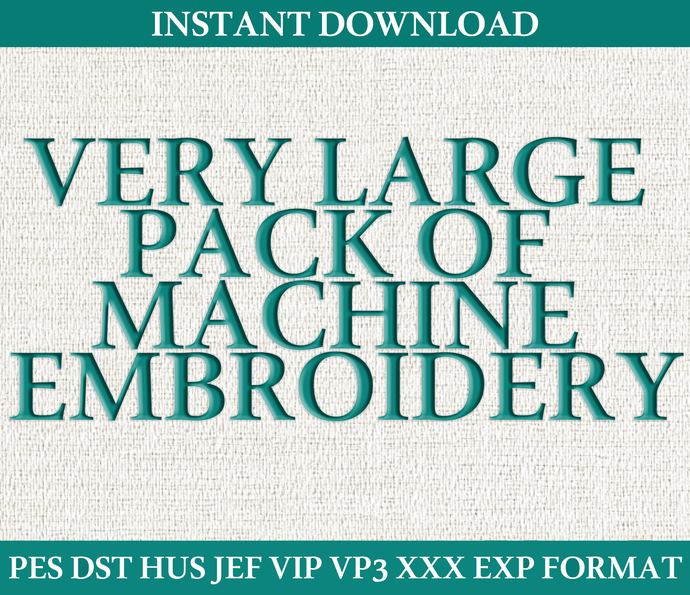 Very large pack of machine embroidery. Instant download