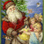 Santa, Toys and Angels Digital Collage Greeting Card3126