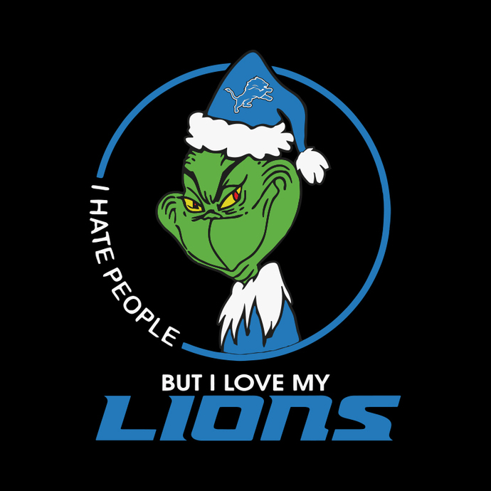 Grinch Santa Christmas Svg, I hate people Svg, I Love Detroit Lions Svg, Cricut