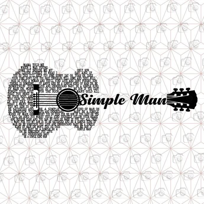 BundleDigital Simple Man SVG, Guitar SVG, Guitar Lovers SVG, Music SVG, EPS,
