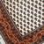 Handmade vintage Indian Seraband style rug 4' x 5.7' (122cm x 175cm) 1980s -