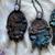 Mermaid Lagoon Amulet with Moonstones, Quartz, & Smokey Lemurian Quartz crystals