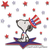 Snoopy Usa embroidery machine designs celebrating 4th of July instant digital