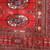Handmade vintage Turkmen Tekke rug 3.5' x 3.6' (109cm x 112cm) 1970s - 1C631