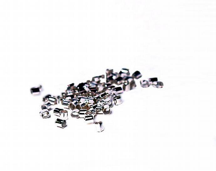 Silver Crimp Beads- jewelry findings