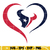 Houton texans heart svg, Texans svg, Nfl svg, png, dxf, eps digital file