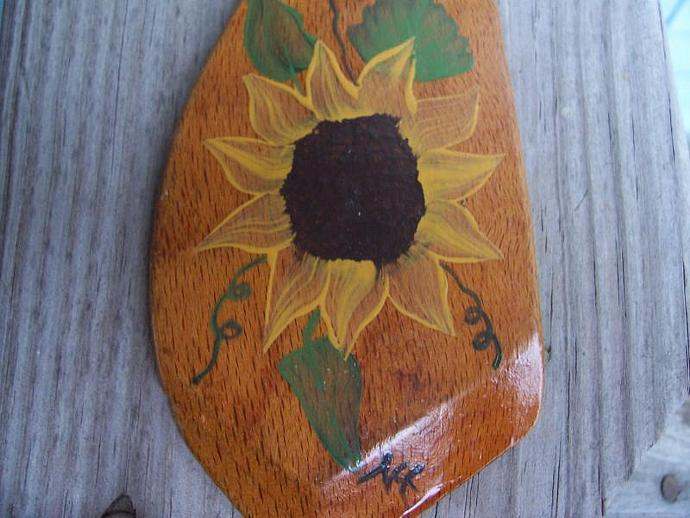 Sunflower on a Vintage Spatula