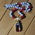 Tri-Color Quartz, Tanzanite, Beaded Necklace, with Pendant, 20 inches,