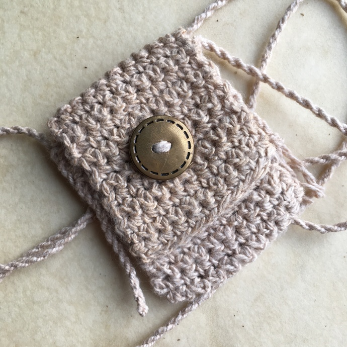 Spirit Pouch Handmade with Organic Cotton, Love and Reiki - Stitches