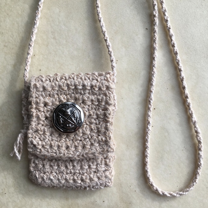 Spirit Pouch Crocheted with Organic Cotton - Humility