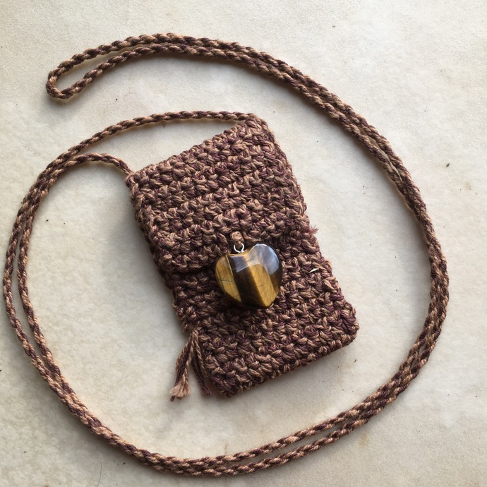 """Clarty"" - a Crocheted Cotton Spirit Pouch"