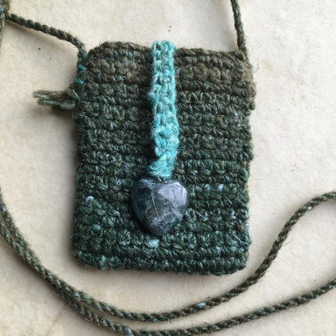 """""""Seasons"""" - a handmade Spirit Pouch of heart and healing"""