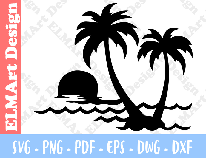 Beach Beach Decor Clipart 6 Format Files Vector Art Svg Png Pdf Eps Dxf Instant
