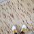 Handmade vintage Indian kilim runner 2.9' x 12.3' (90cm x 375cm) 1980s - 1C714