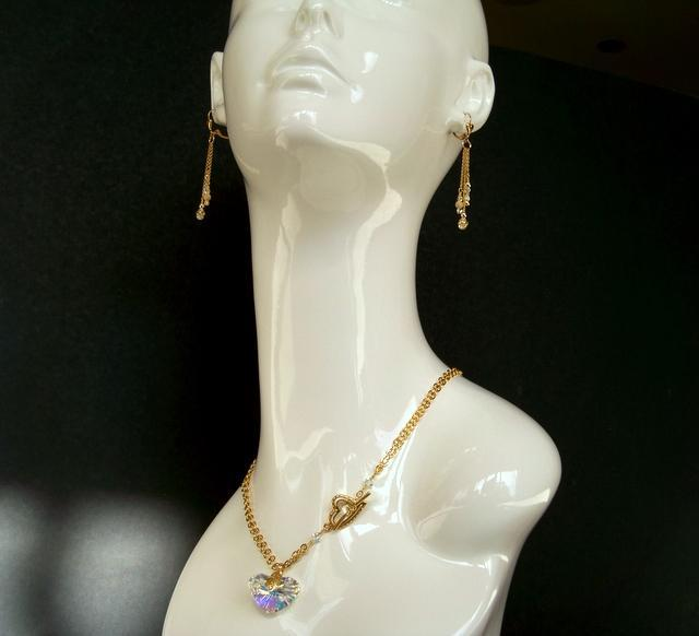 """Necklace and Earrings """"If I Give My Heart To""""... (set)"""