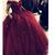 Burgundy Off Shoulder Ball Gown Flowers Formal Dress, Sweet 16 Party Dress