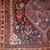 Handmade antique Persian Khamseh rug 6' x 9' ( 183cm x 275cm) 1880 - 1B193