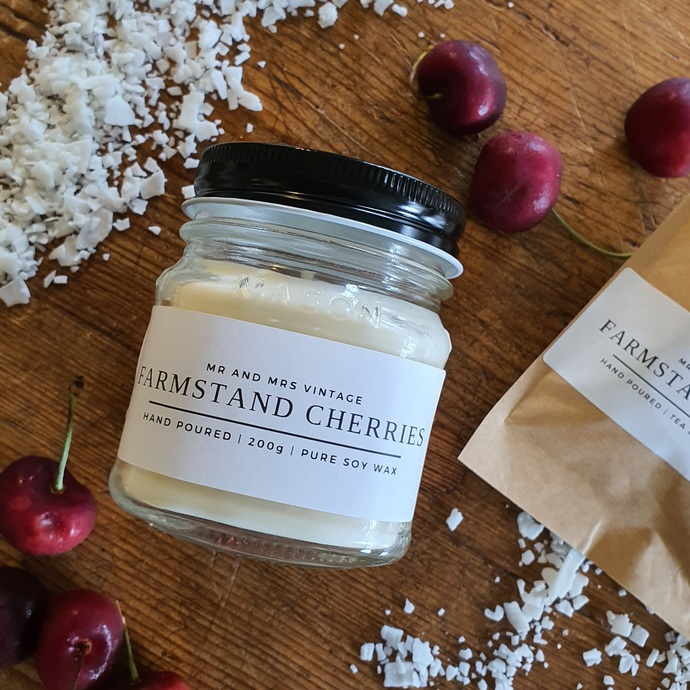 Everyday candle range - Farmstand Cherries