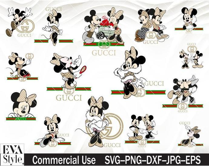 Mickey Gucci SVG,minnie Mouse svg, minnie Mouse SVG,png, Clipart cut files for