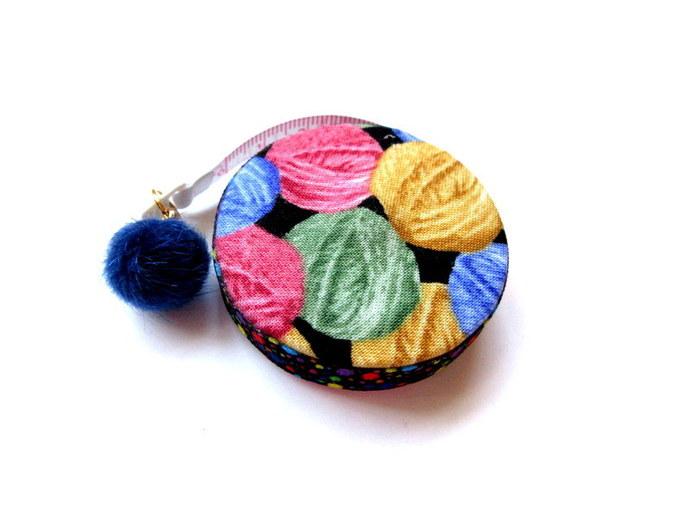 Retractable Tape Measure Rainbow Yarn Balls Small Measuring Tape