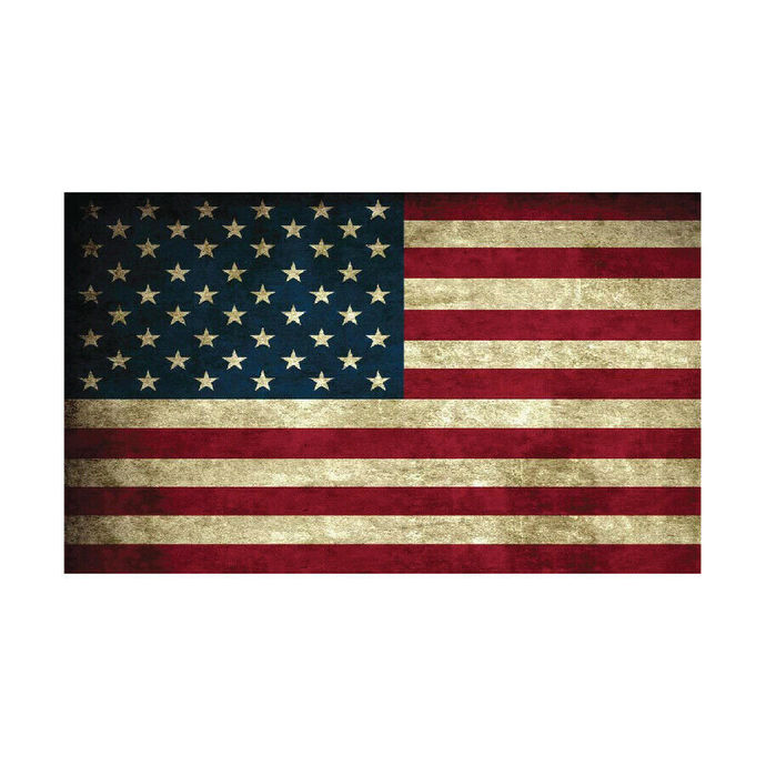 """Weathered American Flag Vinyl Decal 3"""" tall x 5"""" wide Indoor or Outdoor FREE"""