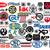 50 Gun Pistol Rifle Firearm Logo Vinyl Decals - Indoor or Outdoor FREE SHIPPING