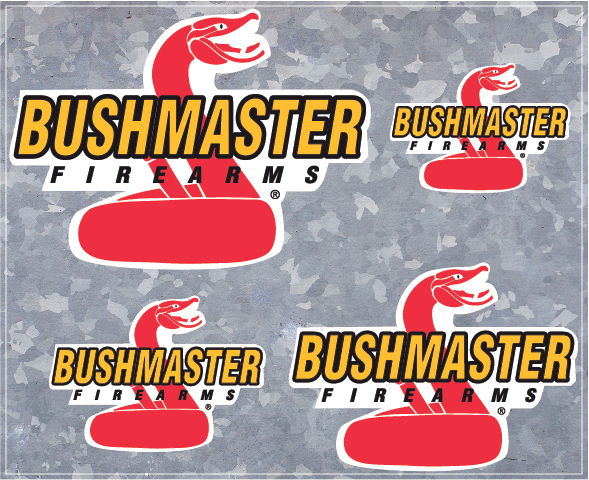 4 Bushmaster Firearms Vinyl Decals - High Quality - U.S. Seller - Style 001