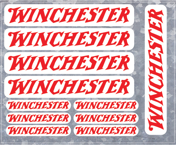 11 Winchester Firearms Vinyl Decals - High Quality - U.S. Seller - FREE SHIPPING