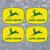 """4x John Deere Classic Design 2 4 Leg Deer Decals 4"""" tall each - FREE SHIPPING"""