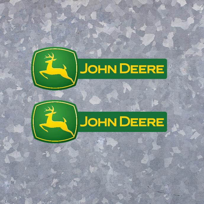 2 John Deere Vinyl Decals for Farm Tractor Gator - FREE SHIPPING