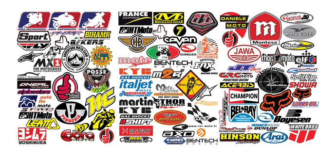 80 Decals Motocross Motorcycle Cycle Performance Brands Decal Lot - Many Unique