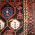 Handmade antique Persian Kurdish rug 3.10' x 5.9' ( 120cm x 179cm ) 1880s -