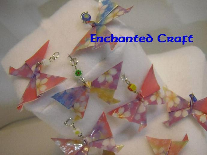 Origami Butterfly Pendant