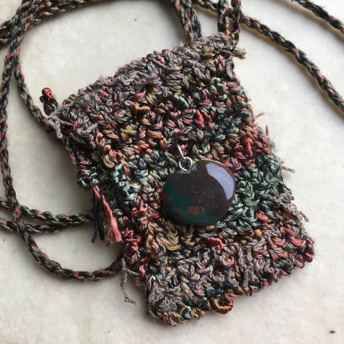 """Explore"" - A Crocheted Spirit Pouch"