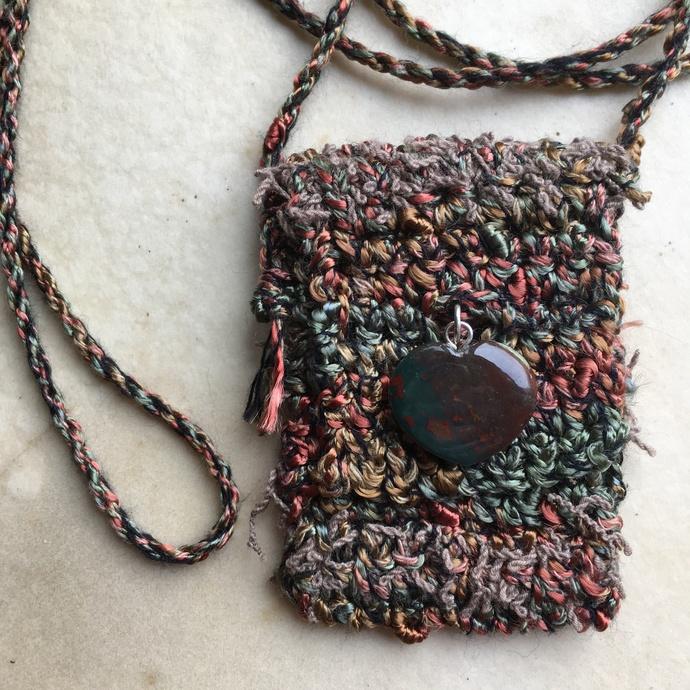 """Explore"" - A Crocheted Spirit Pouch"