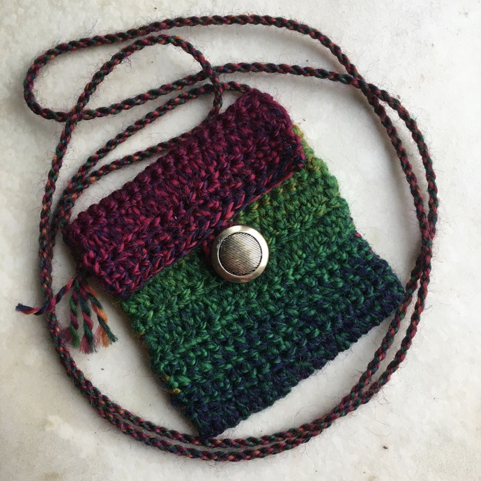 """""""Raw"""" - a Spirit Pouch Handmade with Wool, Love and Reiki"""