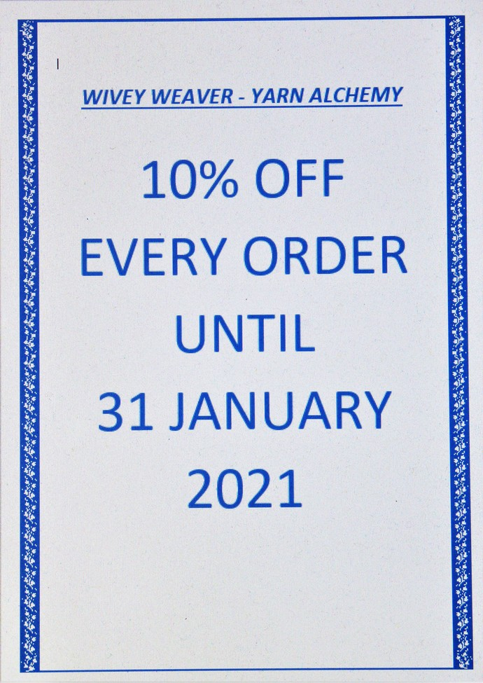 "10% DISCOUNT USING CODE ""NEWYEAR10"" ON EVERY ORDER UNTIL 31 JANUARY 2021"