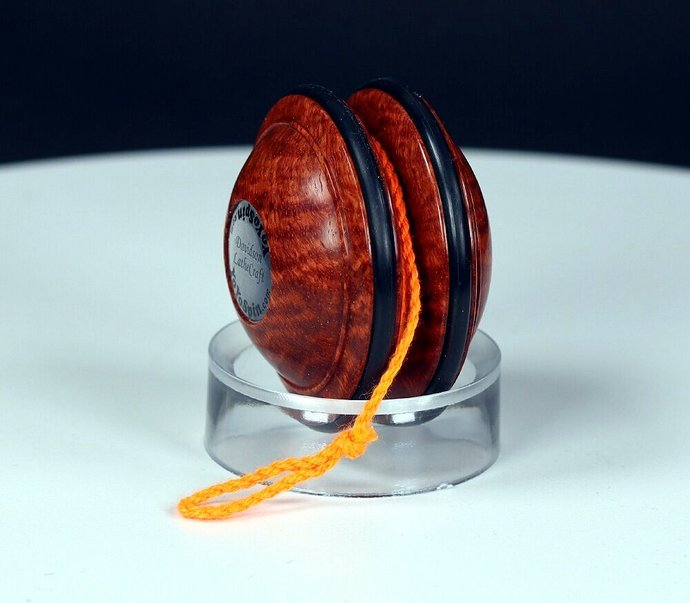 Handmade Satellite Yo-Yo ... Rarest of woods: Exotic Asian Amboyna Burl