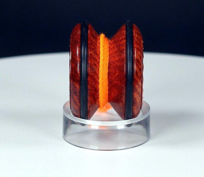 Handmade Butterfly Yo-Yo ... Rarest of woods: Exotic Asian Amboyna Burl