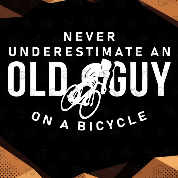 Never Underestimate An Old Guy On A Bicycle Layered Svg, Bicycle SVG, Quotes