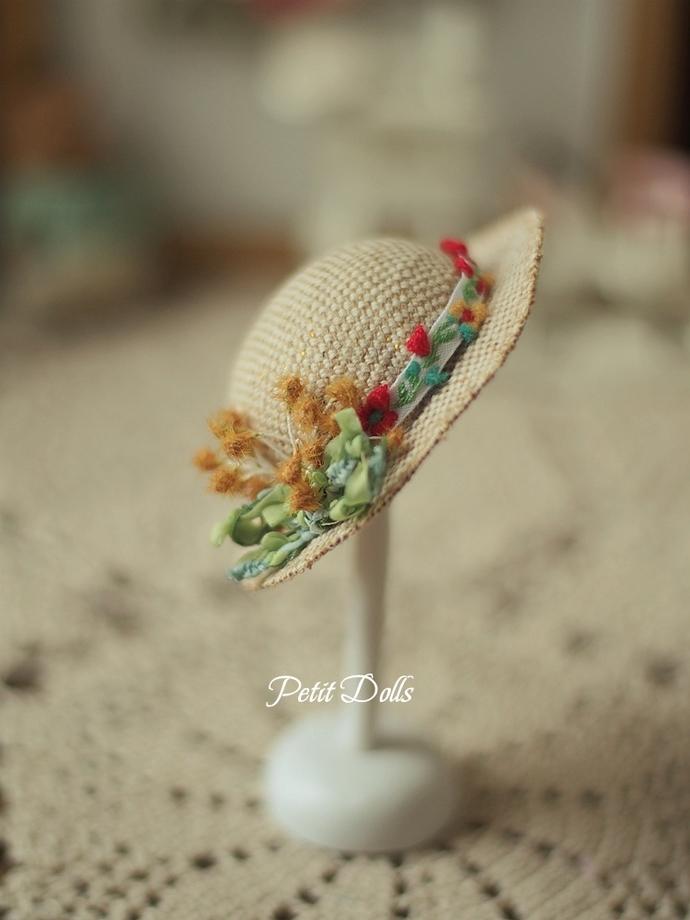Petite Blythe Hat/OB11 Hat/Lati Yellow Hat/Doll Straw Hat/PetitDolls