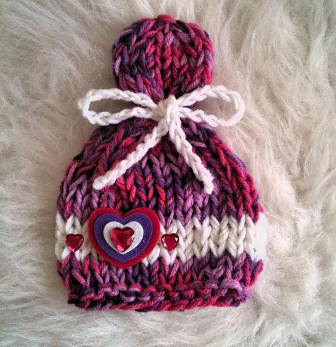Newborn Lolly Top Valentines Day Hat - Sweet Treat