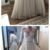 Off the shoulder long prom dress , tulle prom dress