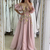 3d flowers pink prom dresses 2020 flare sleeve a line cheap elegant simple prom