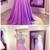 Custom Made Lavender Chiffon Prom Dress,Beading Evening Dress,Floor Length Party