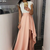 Fashion scoop prom party dresses with cap sleeves, chic hi-low gowns with lace,