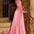 Gorgeous Satin Jewel A-Line Long Sleeves Prom Dresses With Lace Evening Dress