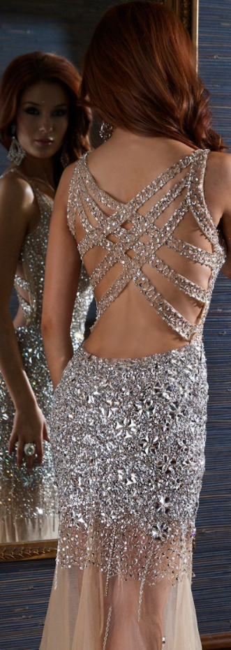 Custom Made Champagne Prom Dress, Sexy V-Neck Evening Dress,Beadings Party
